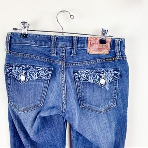 Lucky brand Embroidered Pocket Boot Cut Jeans 4/27